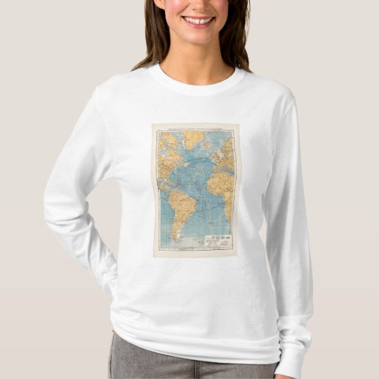 Atlantic Ocean Map T-Shirt