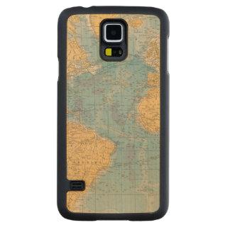 Atlantic Ocean Map Carved® Maple Galaxy S5 Case