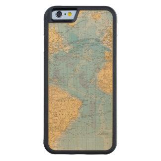 Atlantic Ocean Map Carved® Maple iPhone 6 Bumper Case