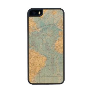 Atlantic Ocean Map Carved® Maple iPhone 5 Case
