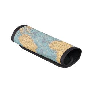 Atlantic Ocean Map Luggage Handle Wrap