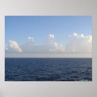 Atlantic ocean near Bermuda island poster