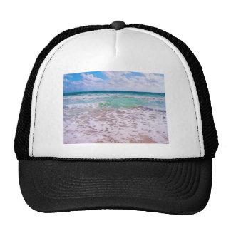 Atlantic Ocean On Florida Beach Mesh Hat