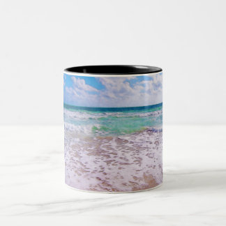 Atlantic Ocean On Florida Beach Two-Tone Coffee Mug