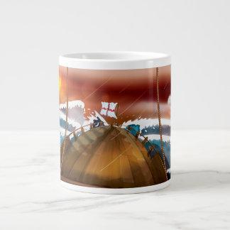 Atlantic Ocean Storm Ship Large Coffee Mug
