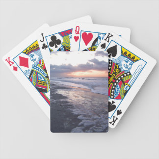 Atlantic Ocean Sunrise Bicycle Playing Cards