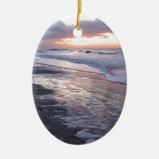 Atlantic Ocean Sunrise Ceramic Ornament