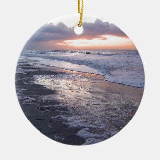 Atlantic Ocean Sunrise Ceramic Ornament