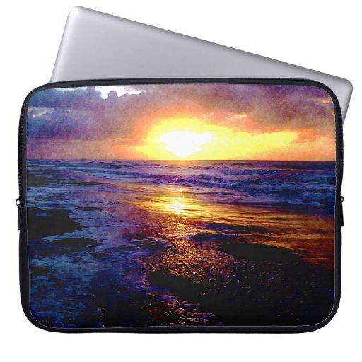 Atlantic Ocean Sunrise Computer Sleeve