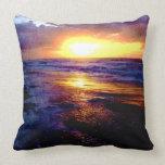 Atlantic Ocean Sunrise Throw Pillow