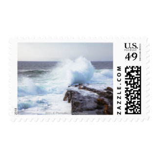 Atlantic Ocean Wave Crashing into Maine's Coast Postage Stamp