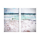 Atlantic Ocean Waves Stretched Canvas Print