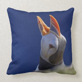Atlantic Puffin (Fratercula arctica) 4 Throw Pillow