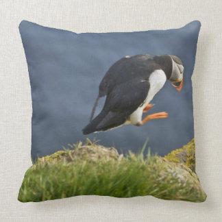 Atlantic Puffin (Fratercula arctica) 5 Throw Pillow