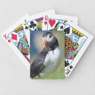 Atlantic Puffin (Fratercula Arctica) On Cliff 2 Bicycle Playing Cards