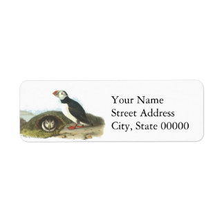 Atlantic Puffin, John Audubon Label