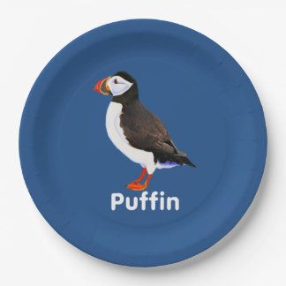 Atlantic Puffin Paper Plate