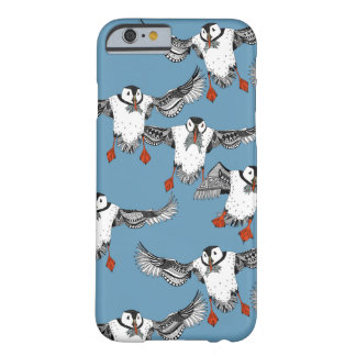 Atlantic Puffins blue Barely There iPhone 6 Case