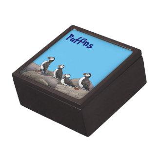 Atlantic Puffins Jewelry Box