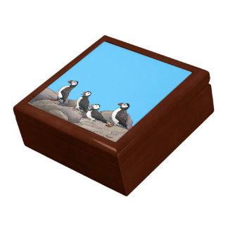 Atlantic Puffins Keepsake Box