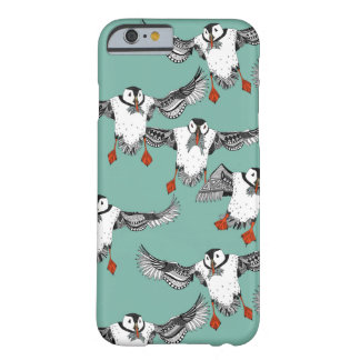 Atlantic Puffins mint Barely There iPhone 6 Case