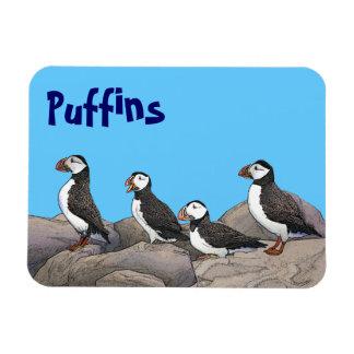 Atlantic Puffins Rectangular Photo Magnet