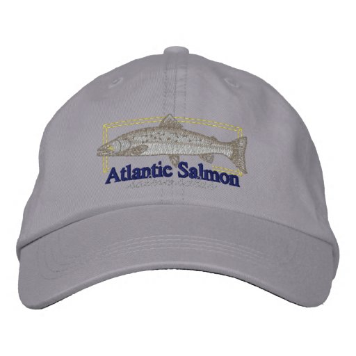 Atlantic Salmon Embroidered Baseball Hat