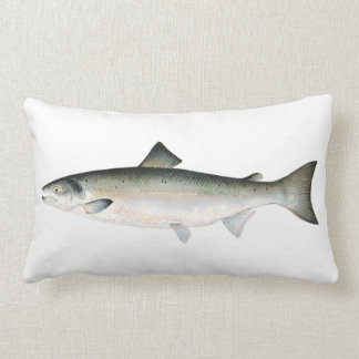 Atlantic Salmon Fish Lumbar Pillow