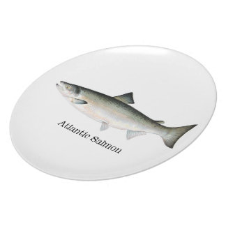 Atlantic Salmon fish Melamine Plate