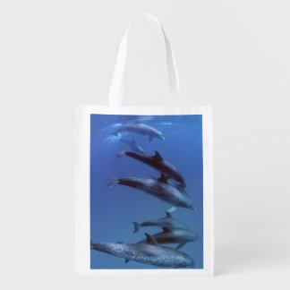 Atlantic spotted dolphins. Bimini, Bahamas. Reusable Grocery Bag