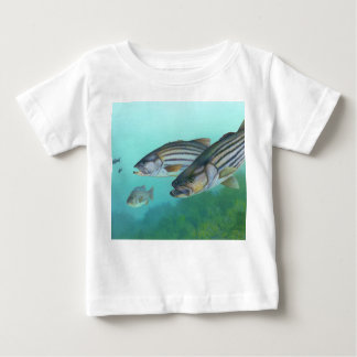 Atlantic Striped Bass Fish Morone Saxatilis Baby T-Shirt
