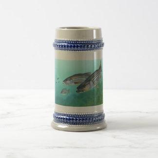 Atlantic Striped Bass Fish Morone Saxatilis 18 Oz Beer Stein
