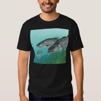 Atlantic Striped Bass Fish Morone Saxatilis Shirt