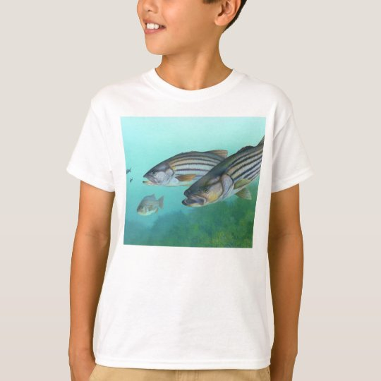 Atlantic Striped Bass Fish Morone Saxatilis T-Shirt