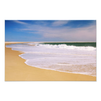 Atlantic Surf on a Deserted Island Beach Photo Print