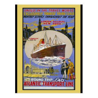 Atlantic Transport Ocean Liner Postcard