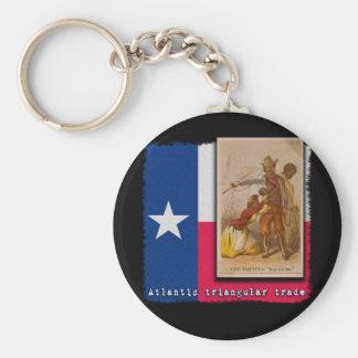 Atlantic Triangular Trade Texas Protest Tshirt Basic Round Button Keychain
