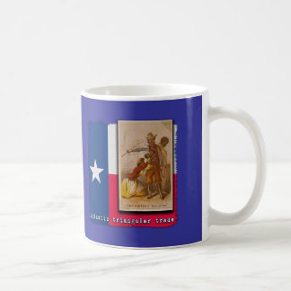 Atlantic Triangular Trade Texas Protest Tshirt Classic White Coffee Mug