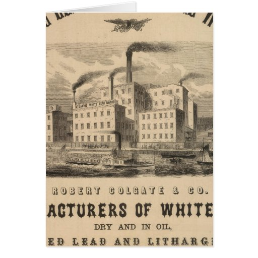 Atlantic White Lead and Linseed Oil Works Card