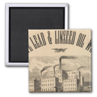Atlantic White Lead and Linseed Oil Works Magnet