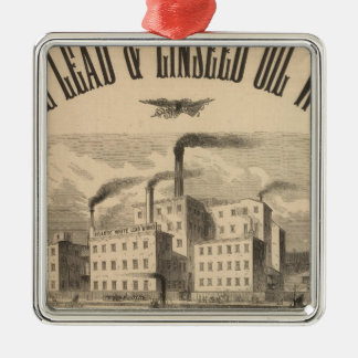 Atlantic White Lead and Linseed Oil Works Metal Ornament