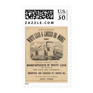 Atlantic White Lead and Linseed Oil Works Postage