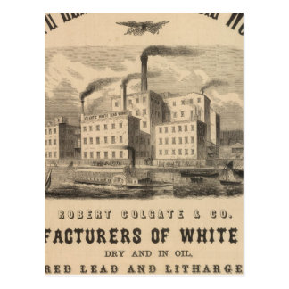 Atlantic White Lead and Linseed Oil Works Postcard