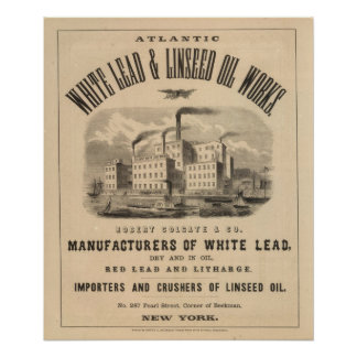 Atlantic White Lead and Linseed Oil Works Poster