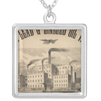 Atlantic White Lead and Linseed Oil Works Silver Plated Necklace