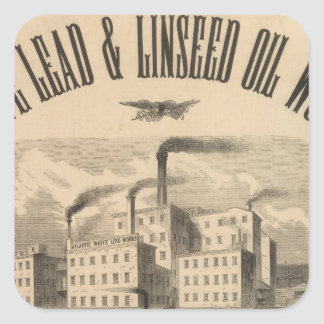 Atlantic White Lead and Linseed Oil Works Square Sticker