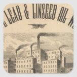 Atlantic White Lead and Linseed Oil Works Square Stickers