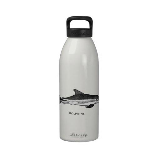 Atlantic White Sided Dolphin Logo Drinking Bottle