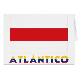 Atlántico Flag with Name Card