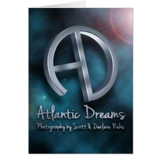 Atlántico soña el logotipo 3D Tarjeta
